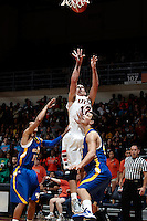 SAN ANTONIO, TX - NOVEMBER 1, 2012: The Southeastern Oklahoma State University Savage Storm vs. The University of Texas at San Antonio Roadrunners Men's Basketball at the UTSA Convocation Center. (Photo by Jeff Huehn)