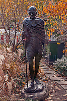 Mahatma Gandhi Statue by Kantilal B. Patel,  Union Square, Manhattan, New York City, New York, USA