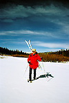 California Skiing:  Cross-country in the Sierra near Tahoe..Photo copyright Lee Foster, 510/549-2202, lee@fostertravel.com, www.fostertravel.com..Photo #: calski105