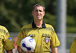23 September 2007: Referee Mark Kadlecik. The Duke University Blue Devils defeated the Ohio State University Buckeyes 2-1 at Koskinen Stadium in Durham, North Carolina in an NCAA Division I Women's Soccer game, and part of the annual Duke Adidas Classic tournament.