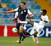 Ghana's Clifford Aboagye (R) and USA's Shane O Neill (L) during their FIFA U-20 World Cup Turkey 2013 Group Stage Group A soccer match Ghana betwen USA at the Kadir Has stadium in Kayseri on June 27, 2013. Photo by Aykut AKICI/isiphotos.com