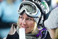 Aspen, Co - 26, JANUARY 2012 - ..Winter X Games Sarah Burke Tribute on the SuperPipe...(Photo by Allen Kee / ESPN Images)