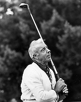 Yankee Clipper Joe DiMaggio golfer enjoying a round of golf at Round Hill Golf &Country Club, Alamo, California. (1974 photo by Ron Riesterer)