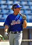 4 March 2009: New York Mets' outfielder Nick Evans warms up prior to a Spring Training game against the Washington Nationals at Space Coast Stadium in Viera, Florida. The Nationals rallied to defeat the Mets 6-4 . Mandatory Photo Credit: Ed Wolfstein Photo