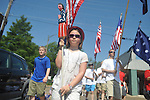 Ana Bouldin walks in the 4th of July parade in Oxford, Miss. on Monday, July 4, 2011.