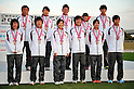 Japan Student Ekiden Team Group, (Under_L to R) Sayo Nomura (JPN), Takehiro Deki (JPN), Hikari Yoshimoto (JPN), Shinobu Kubota (JPN), Risa Takenaka (JPN), Suguru Osako (JPN), NOVEMBER 23, 2011 - Athletics : Hanji Aoki Cup 2011 International Chiba Ekiden, Start & Goal at Chiba Sports Center, Chiba, Japan. (Photo by Jun Tsukida/AFLO SPORT)[0003]