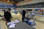 Workers at a UAV workshop of IAI (Israel Aerospace Industries). IAI is globally recognized as a leader in developing military and commercial aerospace technology.