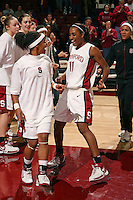3 December 2006: Markisha Coleman and Candice Wiggins during Stanford's 73-49 win over Texas Tech at Maples Pavilion in Stanford, CA.