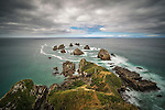 Nugget Point in New Zealand. This is on the very south-east tip of the south island of New Zealand. Theres not much between here and Antarctica.