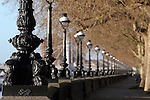 Intricately decorated lamp-posts along the Chelsea Embankment