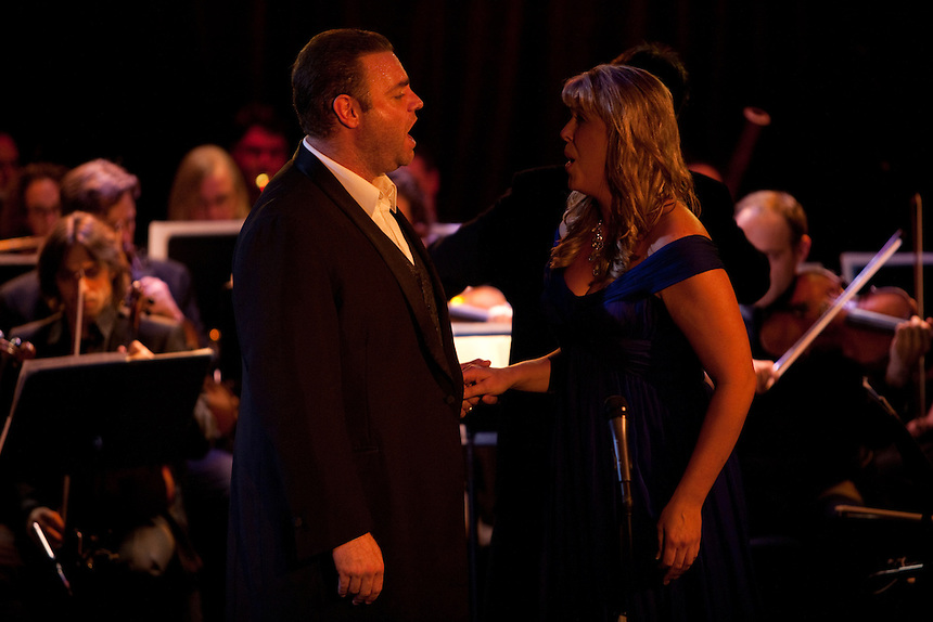 Tenor Joseph Calleja performing with Katie Van Kooten, soprano, at Le Poisson Rouge on October 24, 2011.