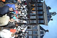 ALGEMEEN: SNEEK: 26-09-2013, Advendo Sneek, Officiële huldiging van Jong Advendo en Advendo door de gemeente SWF nav behaalde WMC-titels, huldiging door wethouder Wigle Sinnema, ©foto Martin de Jong
