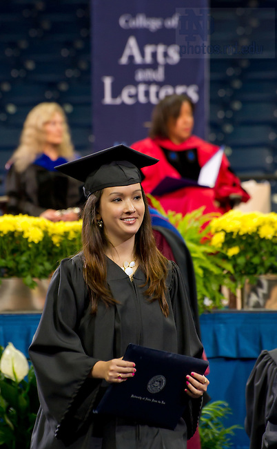 May 20, 2012; College of Arts & Letters diploma ceremony, Commencement 2012..Photo by Matt Cashore/University of Notre Dame