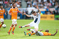 CARSON, CA-DECEMBER 1, 2012 -  Robbie Keane wins the ball during the 2012 MLS Cup Championship at the Home Depot Center in Carson, CA.  The LA Galaxy defeated the visiting Houston Dynamo 2-1 to repeat as Cup champions.