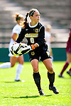 19 September 2010: University of Vermont Catamount goalkeeper Alyssa Kelly, a Sophomore from Southampton, NJ, in action against the Colgate University Raiders at Centennial Field in Burlington, Vermont. The Raiders scored a pair of second half goals two minutes apart to notch a 2-0 victory over the Lady Cats in non-conference women's soccer play. Mandatory Credit: Ed Wolfstein Photo