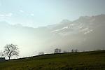 Swiss countryside Beckenried. Luzern area, Switzerland.
