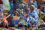 Women in the weekly market of Djibo in northern Burkina Faso.