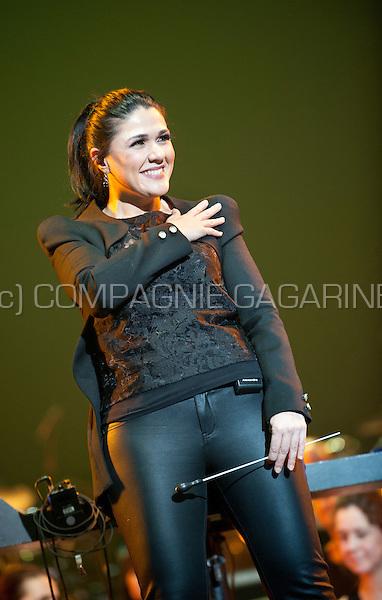 ... Brazilian conductor Alexandra Arrieche conducting at the Night Of The Proms, in Antwerp (Belgium ...