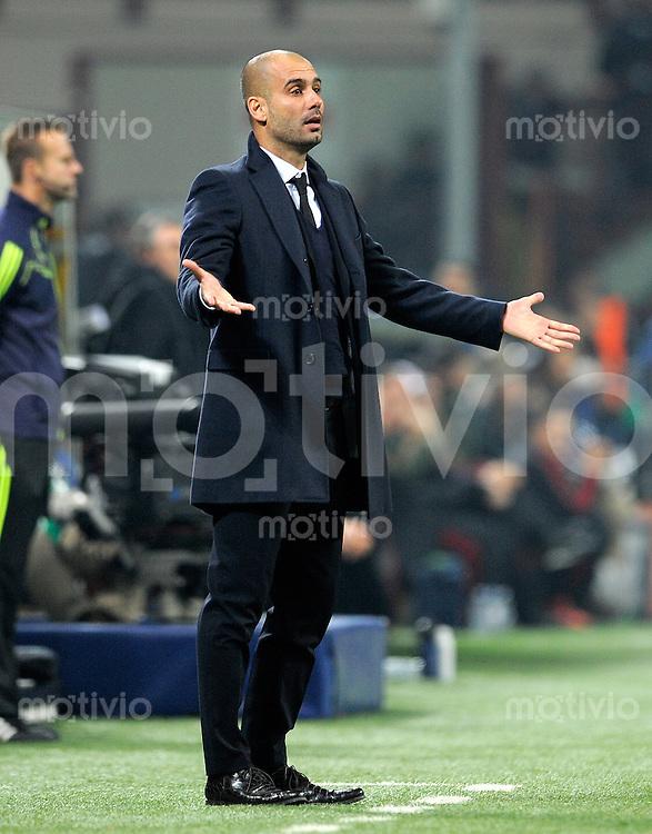 FUSSBALL   CHAMPIONS LEAGUE   SAISON 2011/2012     23.11.2011 AC Mailand - FC Barcelona Trainer Josep Guardiola (Barca)