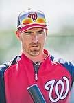 8 March 2013: Washington Nationals first baseman Adam LaRoche awaits his turn in the batting cage prior to a Spring Training game against the St. Louis Cardinals at Space Coast Stadium in Viera, Florida. The Cardinals defeated the Nationals 16-10 in Grapefruit League play. Mandatory Credit: Ed Wolfstein Photo *** RAW (NEF) Image File Available ***