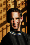 Chuck Palahniuk american author at book fair near Paris.
