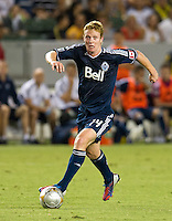 CARSON, CA - September 1, 2012: Vancouver midfielder Barry Robson (14) during the LA Galaxy vs the Vancouver Whitecaps FC at the Home Depot Center in Carson, California. Final score LA Galaxy 2, Vancouver Whitecaps FC 0.