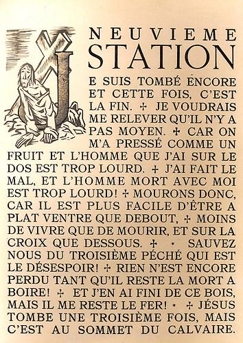 Paul Claudel- « Le Chemin de la Croix », illustré par André Collot, tiré à  la Presse à  bras sur les presses du Jaquemart. Mise en page de Louis Charpentier.