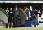 St Johnstone v FC Spartak Trnava...31.07.14  Europa League 3rd Round Qualifier<br /> Saints boss Tommy Wright<br /> Picture by Graeme Hart.<br /> Copyright Perthshire Picture Agency<br /> Tel: 01738 623350  Mobile: 07990 594431