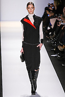 Fabiana Meyer walks the runway in an out by Max Azria, for the BCBGMAXAZRIA Fall 2011 fashion show, during Mercedes Benz Fashion Week.