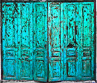 Weathered folding colonial door. (Photo by Matt Considine - Images of Asia Collection)