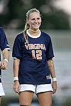 26 September 2013: Virginia's Shasta Fisher. The Duke University Blue Devils hosted the University of Virginia Cavaliers at Koskinen Stadium in Durham, NC in a 2013 NCAA Division I Women's Soccer match. Virginia won the game 3-2.