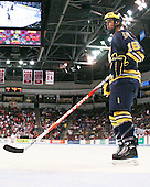 Ben Winnett (Michigan - 16) - The Boston University Terriers defeated the University of Michigan Wolverines 3-2 on Saturday, October 24, 2009, at Agganis Arena in Boston, Massachusetts.