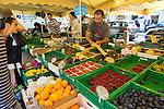 The farmers' market in the Carouge neighborhood in Geneva, Switzerland, Europe