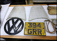 BNPS.co.uk (01202 558833)<br /> Pic: Tennants/BNPS<br /> <br /> All the parts are there...<br /> <br /> Jigsaw puzzle - VW camper in hundreds of pieces could be yours for...for &pound;20,000!<br /> <br /> Despite looking ready for the scrapheap, and even though the buyer will have to piece it together like a jigsaw, when fully restored the iconic vehicle could be worth &pound;100,000.<br /> <br /> The barn-find 1960 Type 2 split-screen 23-window Samba has been languishing in a barn for the last 20 years after its owner hauled it from the road, took it apart and stored it in pieces.<br /> <br /> Now being offered at auction, it represents the ultimate restoration project for a petrol head with time on their hands, although it will require tens of thousands of pounds worth of work before it's back to its former glory.<br /> <br /> The camper will be sold by Tennants Auctioneers in Leyburn, North Yorks, on March 25.
