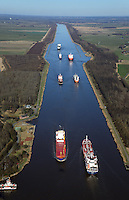 Schiffsverkehr auf dem  Nord Ostsee Kanal: EUROPA, DEUTSCHLAND, SCHLESWIG- HOLSTEIN,  (GERMANY), 12.03.2014: Schiffsverkehr auf dem  Nord Ostsee Kanal