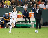 CARSON, CA – NOVEMBER 14: LA Galaxy midfielder David Beckham (23)during the Western Conference Final soccer match at the Home Depot Center, November 14, 2010 in Carson, California. Final score LA Galaxy 0, Dallas FC 3.