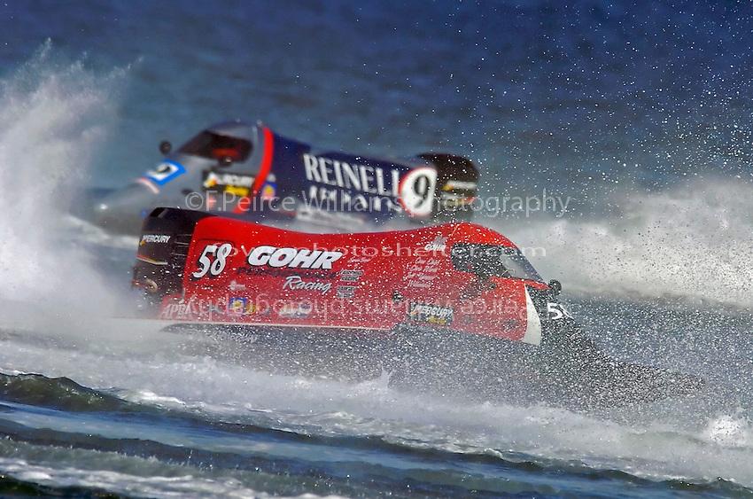 Bill Gohr (#58) and Scott Jensen (#9)   (Formula 1/F1/Champ class)