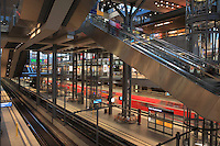 Inside the Berlin Hauptbahnhof, the main train station in Berlin, with shops and platforms, Berlin, Germany. Picture by Manuel Cohen