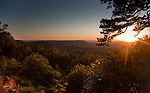 Summer sunset from the west side of Petit Jean Mountain in Arkansas.