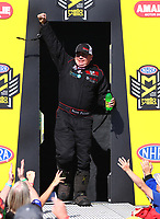 Mar 19, 2017; Gainesville , FL, USA; NHRA top fuel driver Scott Palmer during the Gatornationals at Gainesville Raceway. Mandatory Credit: Mark J. Rebilas-USA TODAY Sports