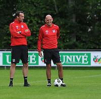 VOETBAL: LANGEZWAAG: 18-06-2016, SC Heerenveen 1e training, nieuwe trainer Jurgen Streppel, Gerald Sibon, ©foto Martin de Jong