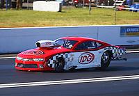 Jun 10, 2016; Englishtown, NJ, USA; NHRA pro mod driver Rickie Smith during qualifying for the Summernationals at Old Bridge Township Raceway Park. Mandatory Credit: Mark J. Rebilas-USA TODAY Sports