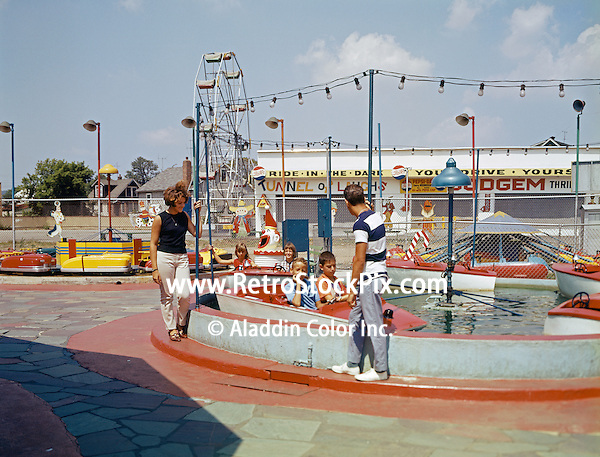 Family at the amusement park in New York