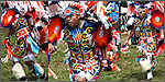 Three images of Native American Dancer # 149 in competition dance at ethnic pride, heritage and celebration at East Coat Thunderbird Pow Wow.