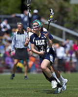 Yale University midfielder Ashley McCormick (3). Boston College defeated Yale University, 16-5, at Newton Campus Field, April 28, 2012.