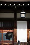 Hokokuji, Jomyoji and Tsurugaoka Hachimangu, Kamakura, Japan on 24 Jan. 2012. Photographer: Robert GilhoolyPhoto shows a detail of the main hall at  Hokokuji temple in Kamakura, Japan on 24 Jan. 2012. Photographer: Robert Gilhooly