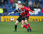 Ross County v St Johnstone....04.01.14   SPFL<br /> Stevie May and Scott Boyd<br /> Picture by Graeme Hart.<br /> Copyright Perthshire Picture Agency<br /> Tel: 01738 623350  Mobile: 07990 594431