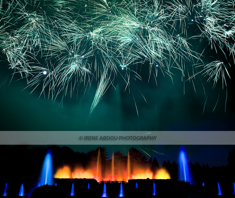 """Each year throughout the summer, Longwood Gardens in Kennett Square, Pennsylvania puts on 30-minute """"Fireworks and Fountains"""" performances.  These magnificent  fireworks displays are set against a backdrop of illuminated fountains, both of which are choreographed to music.  These are just a few of Longwood's 400 annual musical and theatre performances, and other events."""