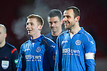 St Johnstone v Partick Thistle....17.01.15  SPFL<br /> Smiles on the face of goalscorer Dave Mackay and Liam Caddis at full time<br /> Picture by Graeme Hart.<br /> Copyright Perthshire Picture Agency<br /> Tel: 01738 623350  Mobile: 07990 594431
