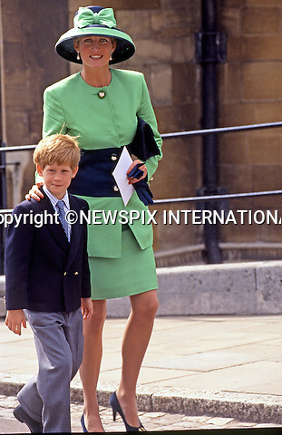 PRINCE HARRY_30 years on<br /> Prince Harry arrives to attend his first day at nursery school with Charles, Prince of Wales, Diana, Princess of Wales and his brother, Prince William on September 16, 1987 in London, England.<br /> Prince Harry celebrates his 30th birthday on the 15th of September 2014<br /> Mandatory Photo Credit: &copy;Dias/NEWSPIX INTERNATIONAL<br /> <br /> Mandatory credit photo:NEWSPIX INTERNATIONAL(Failure to credit will incur a surcharge of 100% of reproduction fees)<br /> <br /> **ALL FEES PAYABLE TO: &quot;NEWSPIX INTERNATIONAL&quot;**<br /> <br /> Newspix International, 31 Chinnery Hill, Bishop's Stortford, ENGLAND CM23 3PS<br /> Tel:+441279 324672<br /> Fax: +441279656877<br /> Mobile:  07775681153<br /> e-mail: photodesk.newspix@virgin.net
